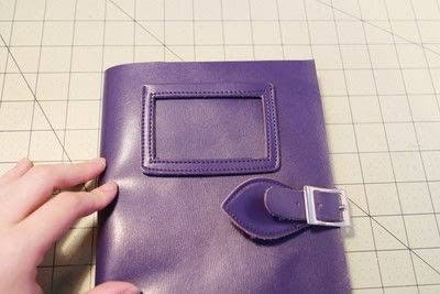 How to make a leather journal. Satchel Notebook - Step 10