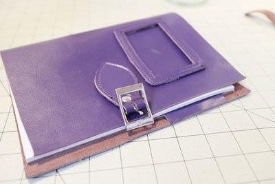 How to make a leather journal. Satchel Notebook - Step 13