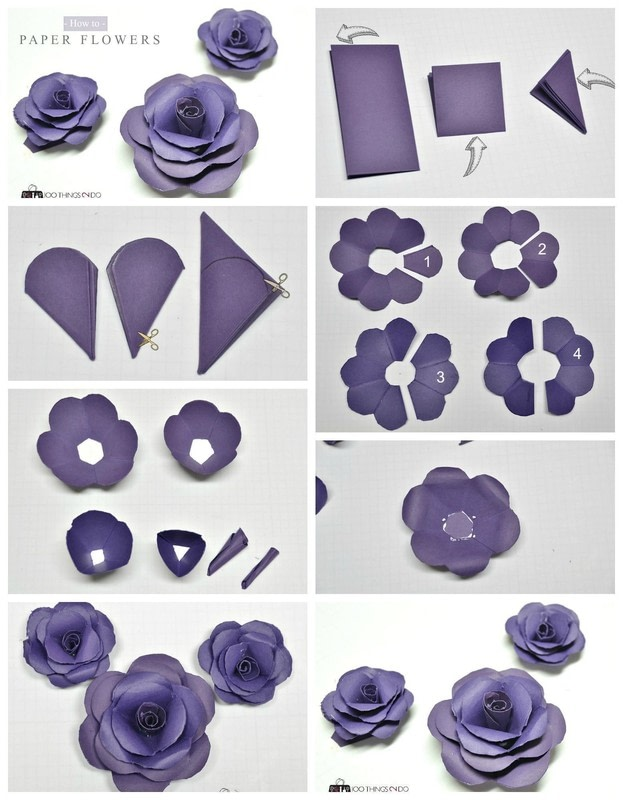 Paper flower tutorial step by step nurufunicaasl paper flower tutorial step by step mightylinksfo