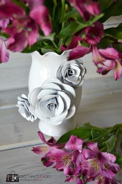 How to make a paper planter. Create A Decorative Flower Vase... With Paper! - Step 6