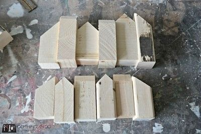How to sculpt a wood model. Scrap Wood Row Houses - Step 3