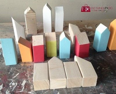 How to sculpt a wood model. Scrap Wood Row Houses - Step 4