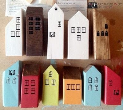How to sculpt a wood model. Scrap Wood Row Houses - Step 5
