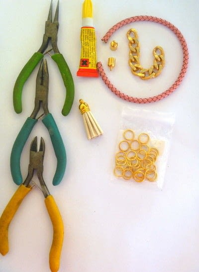 How to make a chain bracelet. Leather And Chain Bracelet Tutorial - Step 1