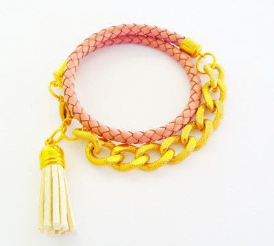 How to make a chain bracelet. Leather And Chain Bracelet Tutorial - Step 7