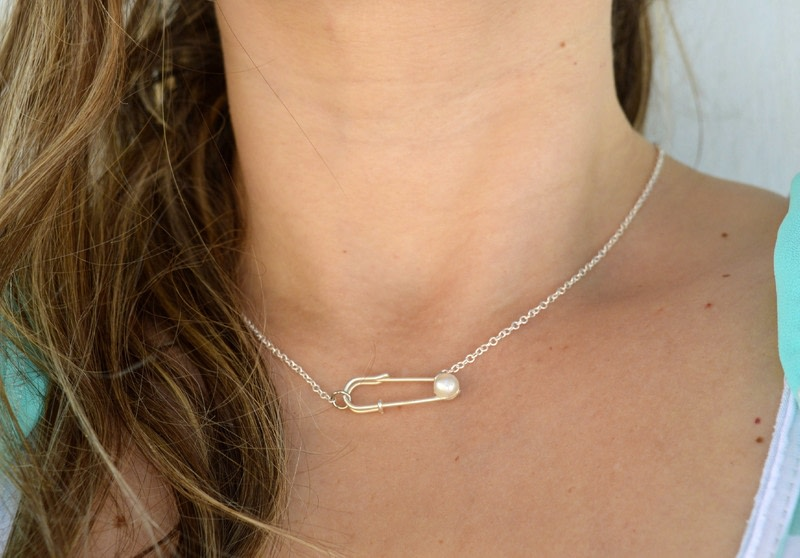 Safety Pin And Pearl Necklace · How To Make A Safety Pin Necklace