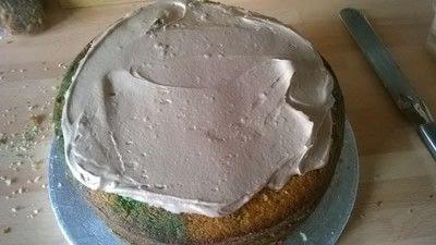 How to bake a vanilla cake. Football Boot Cake - Step 14