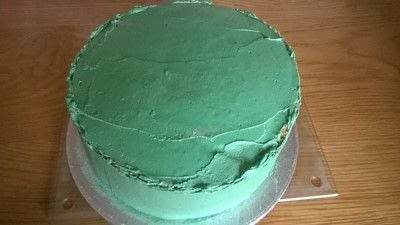 How to bake a vanilla cake. Football Boot Cake - Step 15