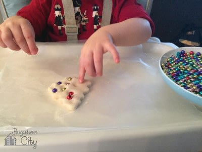 How to make an ornament. Toddler Ornament And Gift Box - Step 1