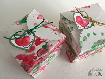 How to make an ornament. Toddler Ornament And Gift Box - Step 6