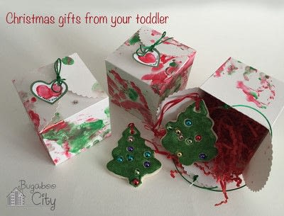 How to make an ornament. Toddler Ornament And Gift Box - Step 7