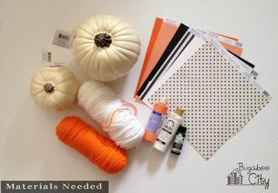 How to decorate a pumpkin. Vintage Clown Pumpkins - Step 1