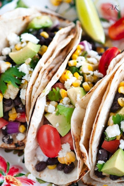 How to cook a taco. Grilled Yellow Corn And Black Bean Tacos - Step 2