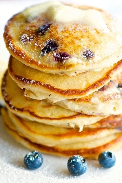 How to cook a pancake. Lemon Ricotta Blueberry Pancakes - Step 3