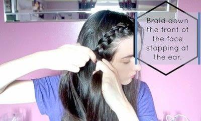 How to style a braid / plait. Braided Hair - Step 3