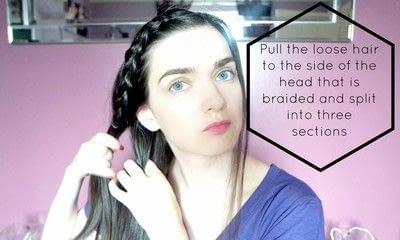 How to style a braid / plait. Braided Hair - Step 5