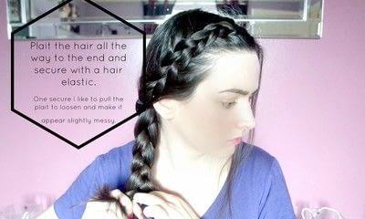 How to style a braid / plait. Braided Hair - Step 6