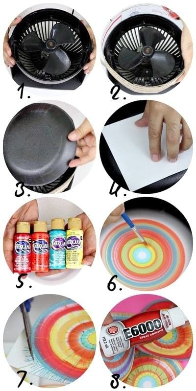 How to create a piece of abstract or patterned art. Spin Art Machine Diy! - Step 3