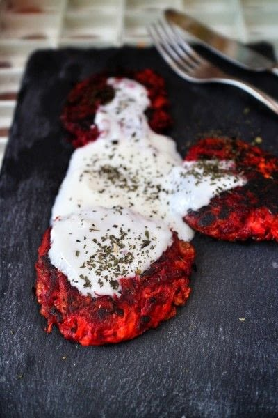 How to cook a vegetable fritter. Carrot, Halloumi & Beetroot Fritters - Step 8