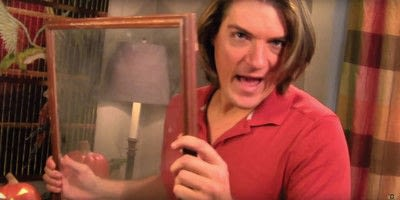 How to make a Halloween decoration. Barry Scary! Mirror, Mirror  - Step 2