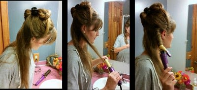 How to style a curly hairstyle / wavy hairstyle. 3 Day Curls - Step 2