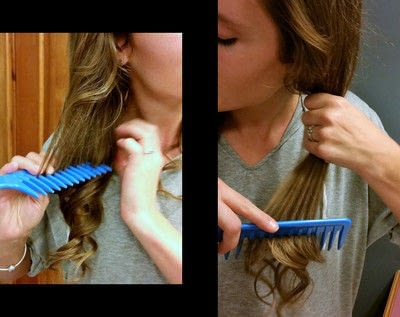How to style a curly hairstyle / wavy hairstyle. 3 Day Curls - Step 5