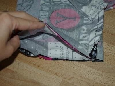 How to make a circle scarf. Sewing A Loop Scarf - Step 2