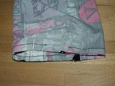 How to make a circle scarf. Sewing A Loop Scarf - Step 3