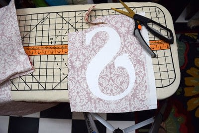 How to sew an applique cushion. Appliqued Monogram Pillow - Step 6