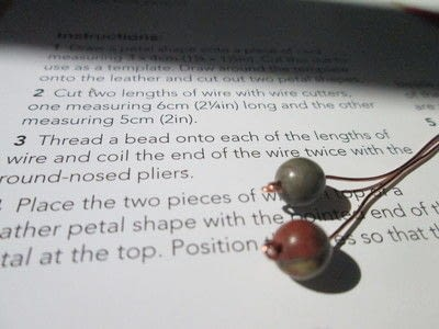 How to make a pair of leather earrings. Leather Calla Lilly Earrings - Step 3