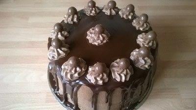 How to bake a chocolate cake. Malteser Cake - Step 17