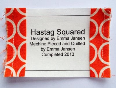 How to make a packaging labels. Quilt Label Tutorial - Step 4