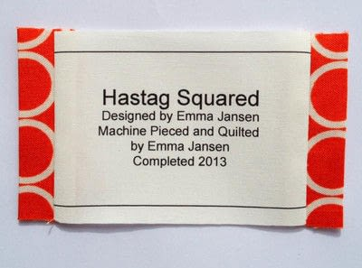 How to make a packaging labels. Quilt Label Tutorial - Step 5