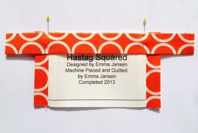 How to make a packaging labels. Quilt Label Tutorial - Step 6