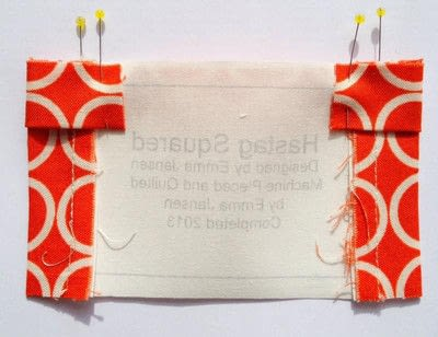 How to make a packaging labels. Quilt Label Tutorial - Step 7