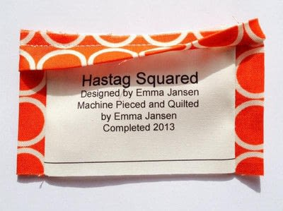 How to make a packaging labels. Quilt Label Tutorial - Step 8