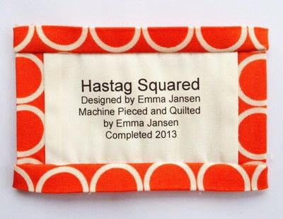 How to make a packaging labels. Quilt Label Tutorial - Step 10