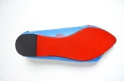How to paint a pair of painted shoes. Watermelon Painted Soles - Step 2