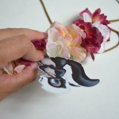 How to make a flower crown. Bambi Inspired Floral Headband - Step 3