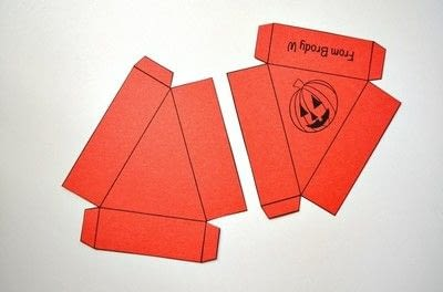 How to make a paper box. Halloween Treat Boxes - Step 2
