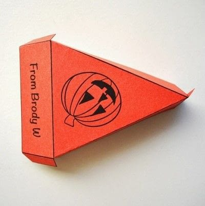How to make a paper box. Halloween Treat Boxes - Step 3