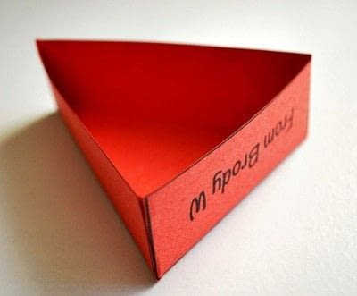 How to make a paper box. Halloween Treat Boxes - Step 4