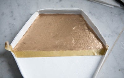 How to make a tray. Hexagonal Gold Leaf Tray - Step 10