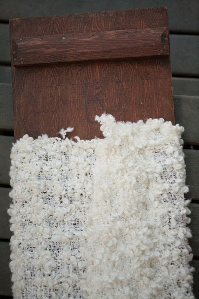How to make a side table. Faux Knit Covered End Tables  - Step 6