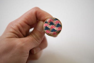 How to make a ring. Cross Stitch Ring - Step 6