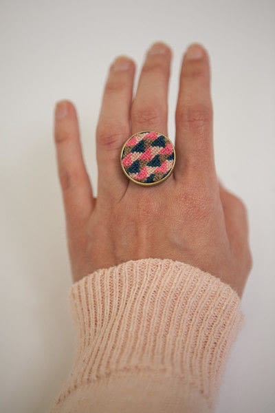 How to make a ring. Cross Stitch Ring - Step 9