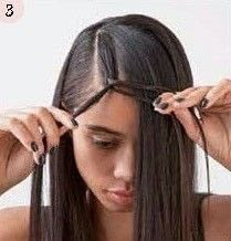 How to style a side braid. Bohemian Bangs - Step 3