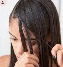 How to style a side braid. Bohemian Bangs - Step 4