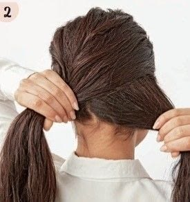 How to style a fishtail braid. Romantic Fishtail - Step 2