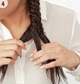 How to style a fishtail braid. Romantic Fishtail - Step 4